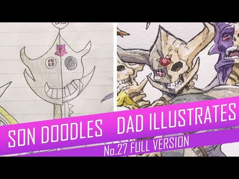 [Part 2] Professional Anime Artist Turns His Sons' Sketches Into Amazing Anime